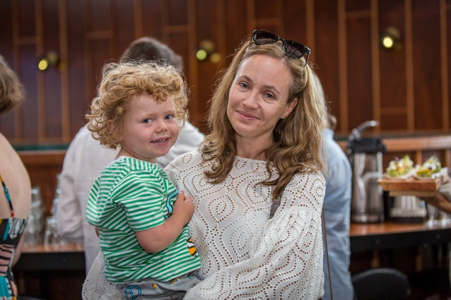 Hannah Brodie of IMO with son.