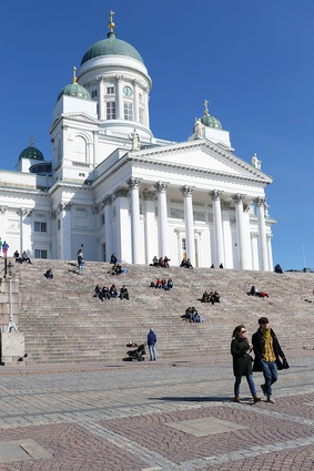 Helsinki's neoclassical cathedral is a distinctive landmark in the cityscape, and one of Helsinki's most popular tourist attractions.