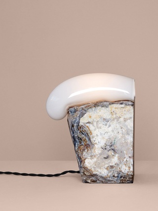Catch Rock table light by Lindsey Adelman.