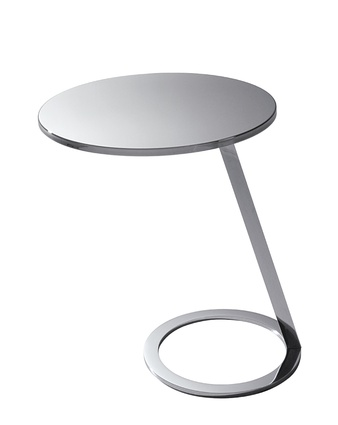 """Good Morning Side Table in polished steel by A.S Gilles for Ligne Roset 