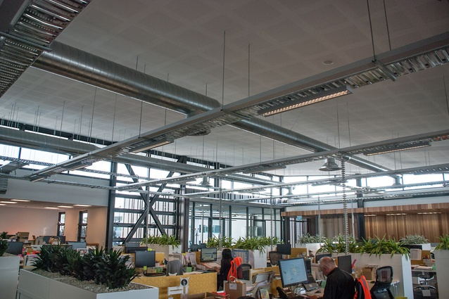 Interior of the Ceres Organics building. A building management system (BMS) monitors lighting, CO2 levels and water and energy usage.