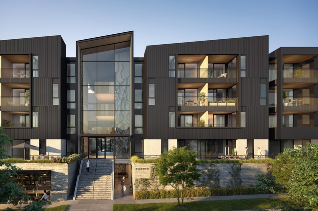 FABRIC of Onehunga is a masterplanned community of five buildings over four levels.
