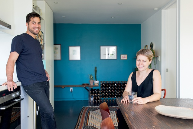 Dariush Lolaiy and Rebecca Smidt in their Northcote apartment.