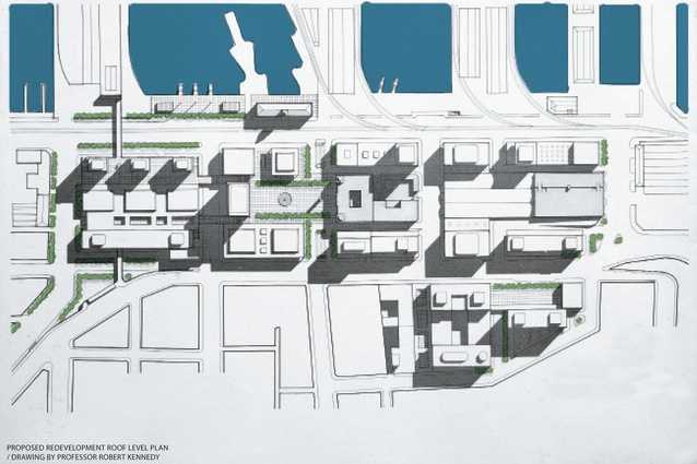 Proposed redevelopment roof level plan.