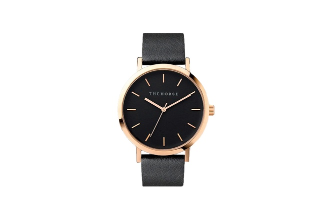 """The Horse Watch - Rose Gold/Black 
