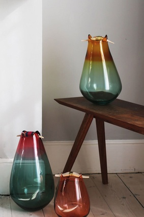 Mixed-media glass pieces by Pia Wüstenberg for Utopia & Utility.