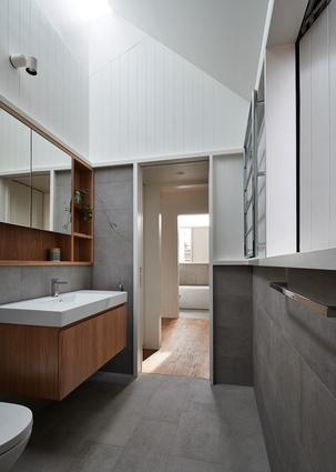 Skylights and high windows provide privacy from neighbours and natural light.