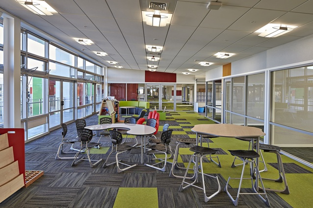 Ormiston Primary School: a very vibrant building in terms of the colours and the materials used.