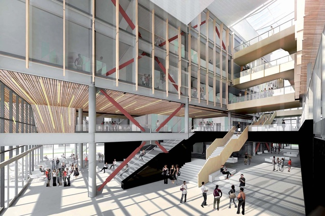 The Regional Sciences and Innovation Centre was designed by Jasmax, DJRD and Royal Associates Architects, which have Ngāi Tahu architects forming part of the design team.