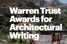 2017 Warren Trust Awards for Architectural Writing: winners announced
