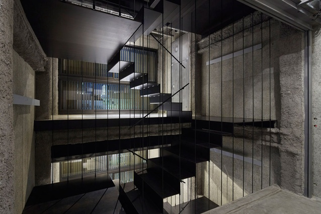 The K8 bar building, designed by German architect Florian Busch, in Kyoto, Japan.