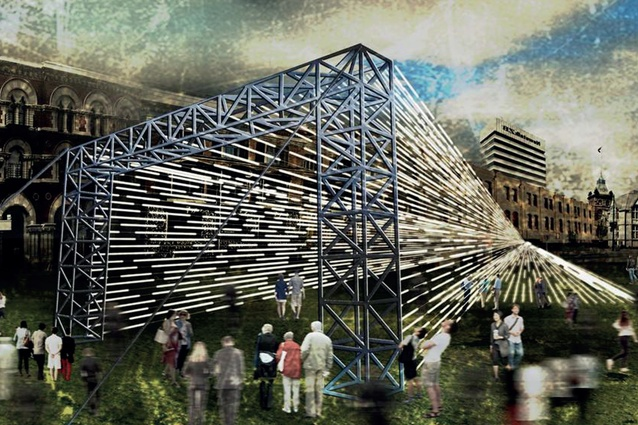 A submission for Studio Christchurch's CityUps from School of Architecture and Planning, University of Auckland, <em>Continuum</em>.