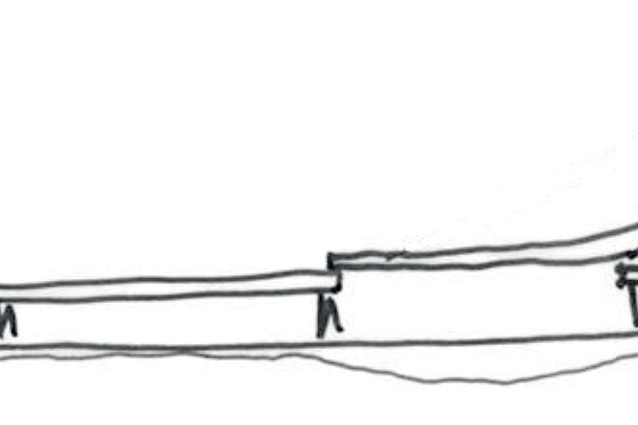 Concept sketches of the north and south elevations.