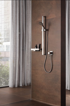 The Keuco IXMO solo shower mixer.