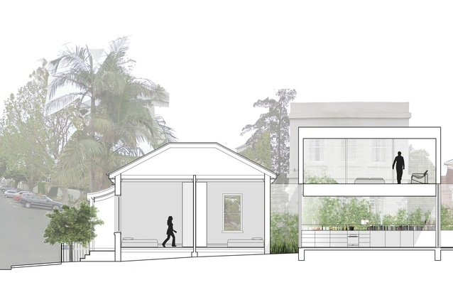 A rendering of the proposed exterior of the Fitzroy home.