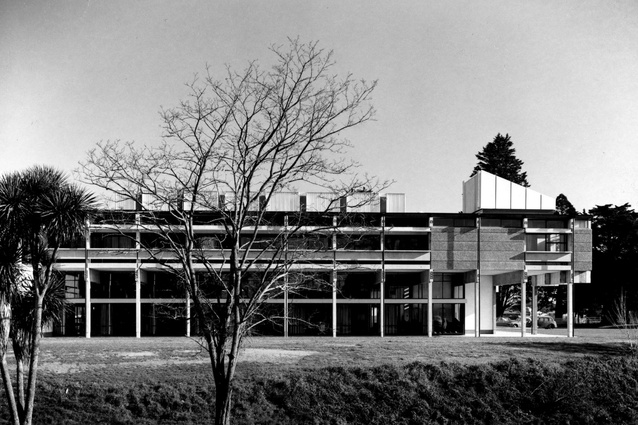 The University of Canterbury Student Union Building in Christchurch designed by Warren & Mahoney, 1967.