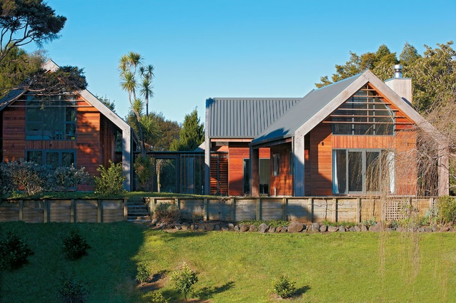 The West Elevation Of This Parau House Designed By Context Architects