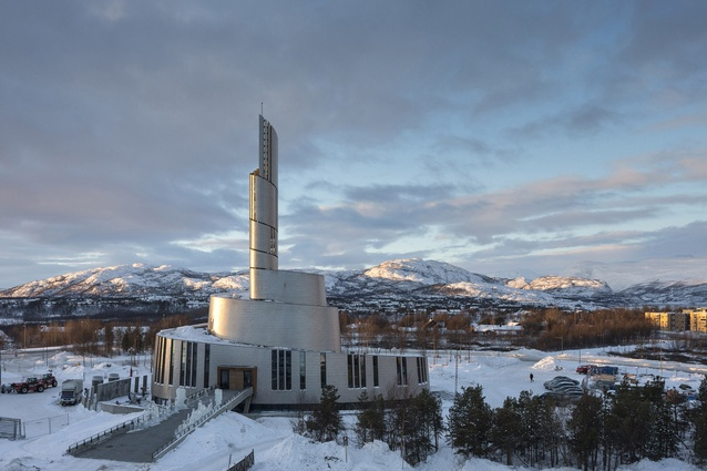 Cathedral of the Northern Lights, Norway by SHL Architects + LINK arkitektur. A landmark that symbolises the extraordinary natural phenomenon of the Arctic northern lights.