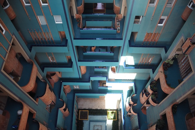 A void in the Walden 7 development by Ricardo Bofill.